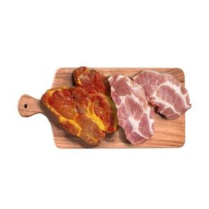 Frische Schweinenackensteaks  natur oder versch. gewu?rzt, je 1kg