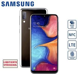 Smartphone Galaxy A20e (2019) • HD+-Display • Dual-Ru?ckkamera (13 MP + 5 MP) • Frontkamera (8 MP) • 3-GB-RAM, bis zu 32 GB interner Speicher • microSD™-Slot bis zu 512 GB • Andro