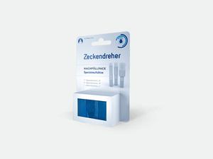 Hecht Zeckendreher Nachfüllpack blau für Menschen