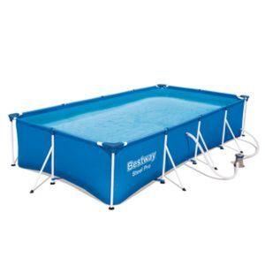Aufstellpool 'Steel Pro™' blau rechteckig 400 x 211 x 81 cm
