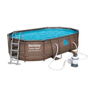 Aufstellpool 'Power Steel™ Swim Vista Series™' braun oval 488 x 305 x 107 cm
