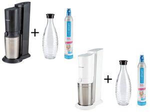 Sodastream Wassersprudler »Crystal«, 0,6 l Glaskaraffe, Aluminiumzylinder für 60 l Wasser-Kopie