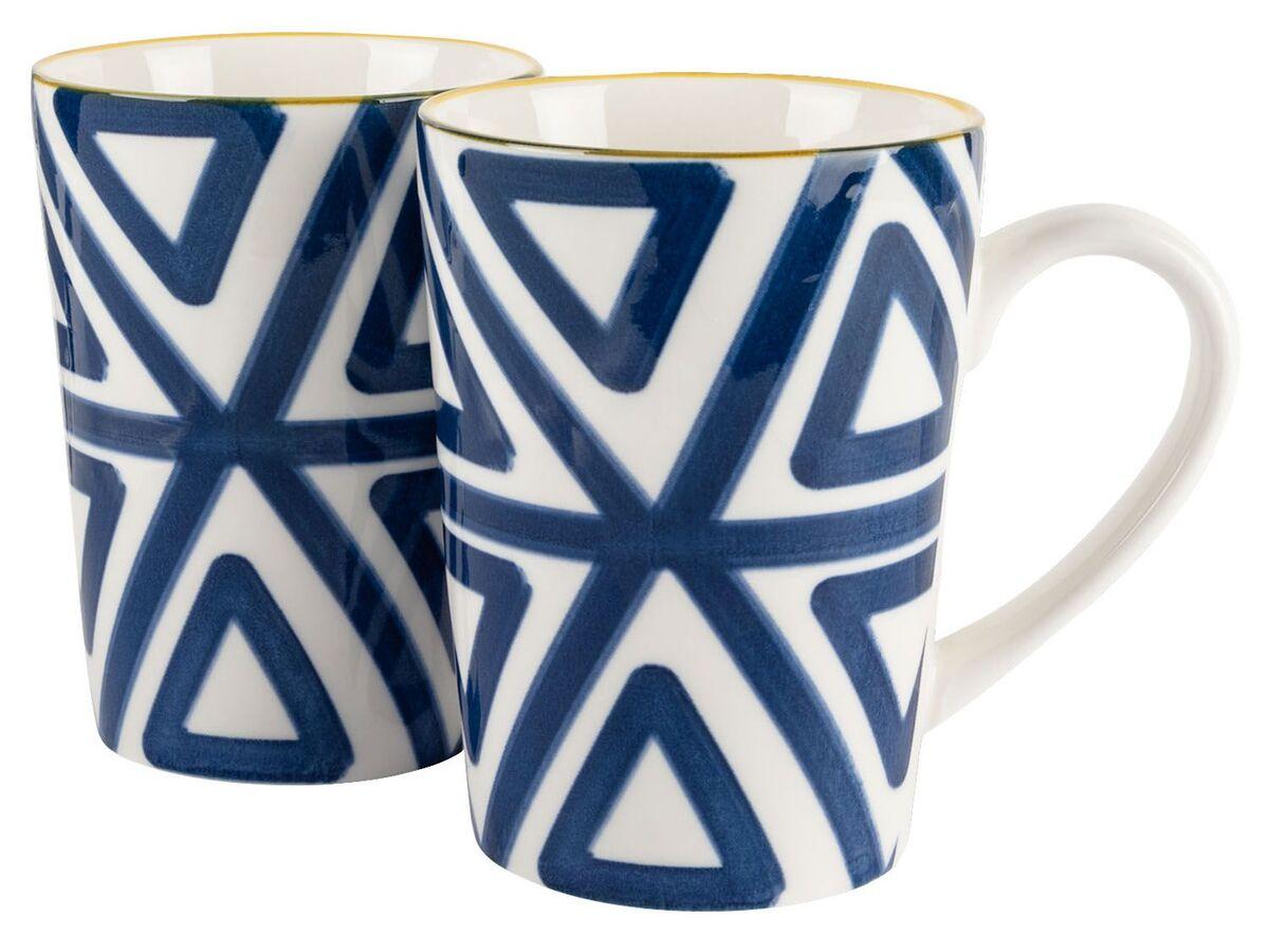 Bild 2 von ERNESTO® Porzellan Geschirr, 2-teilig, mit Muster