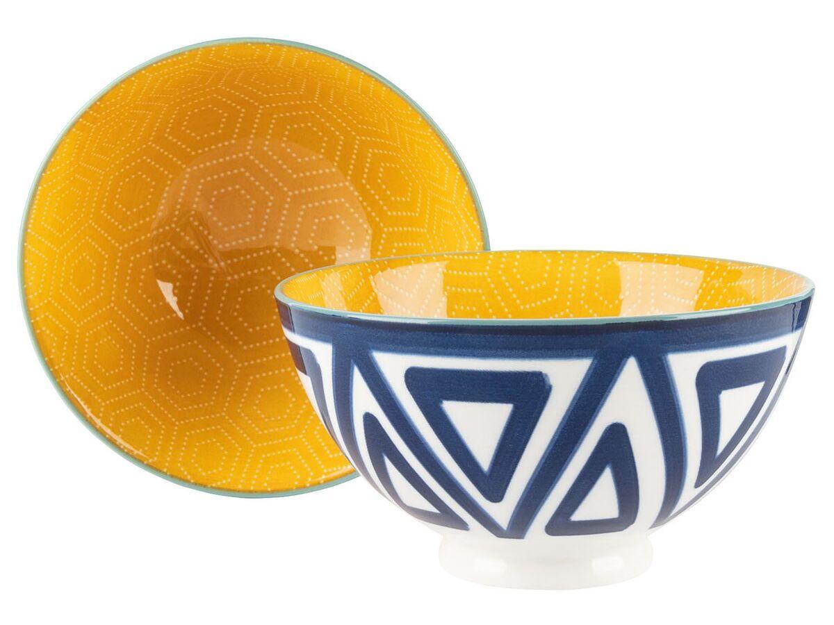 Bild 3 von ERNESTO® Porzellan Geschirr, 2-teilig, mit Muster