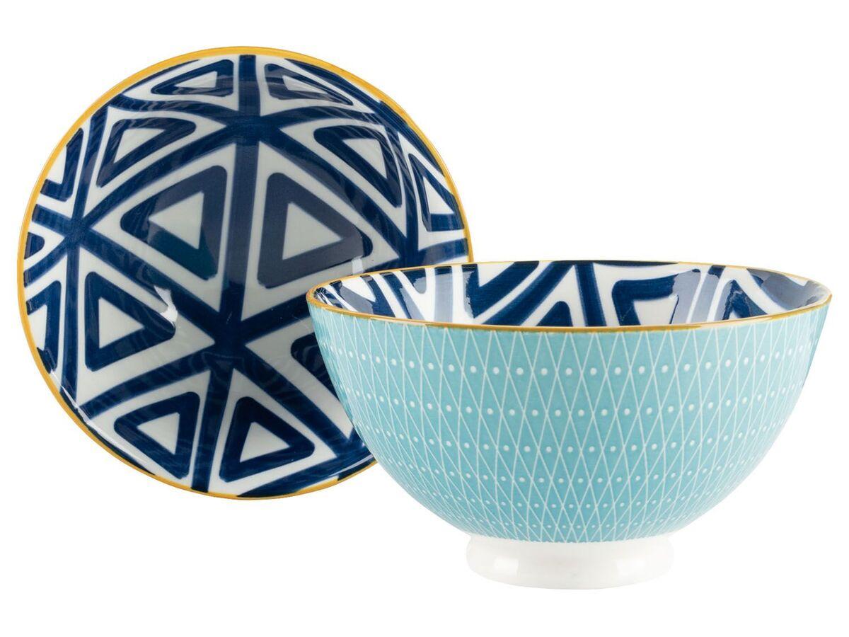 Bild 5 von ERNESTO® Porzellan Geschirr, 2-teilig, mit Muster