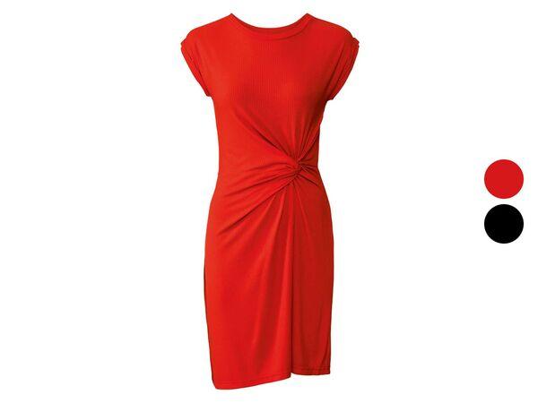 ESMARA® Kleid Damen, tailliert geschnitten, Zierknoten