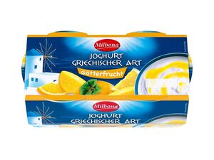 Milbona Joghurt Griechischer Art Götterfrucht