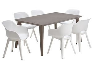 Allibert Gartenmöbel Set »Akola-Lima«, mit 6 Stühlen und 1 Tisch, witterungsbeständig