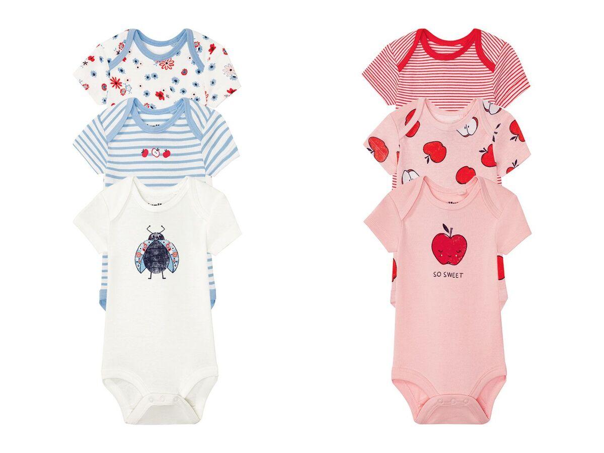 Bild 1 von LUPILU® 3 Baby Mädchen Bodys