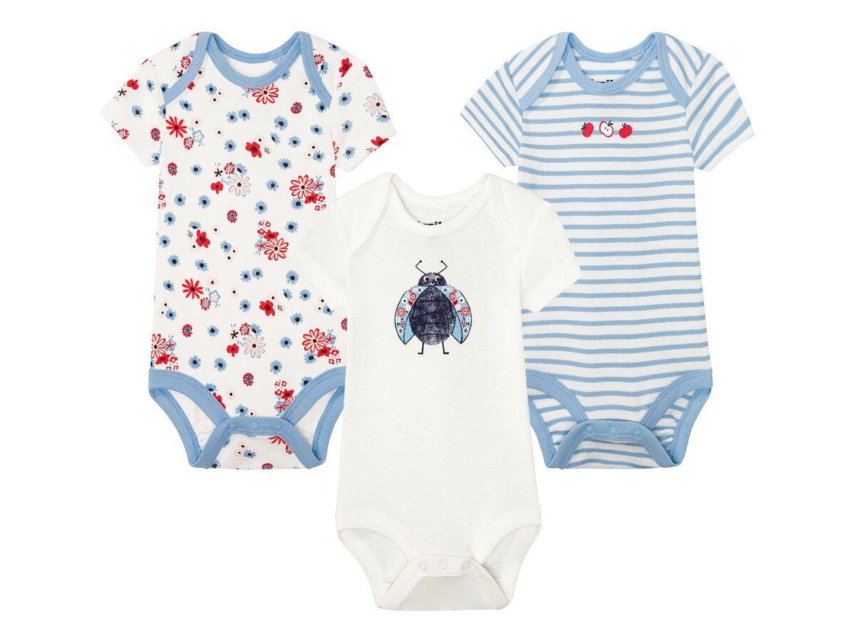 Bild 3 von LUPILU® 3 Baby Mädchen Bodys