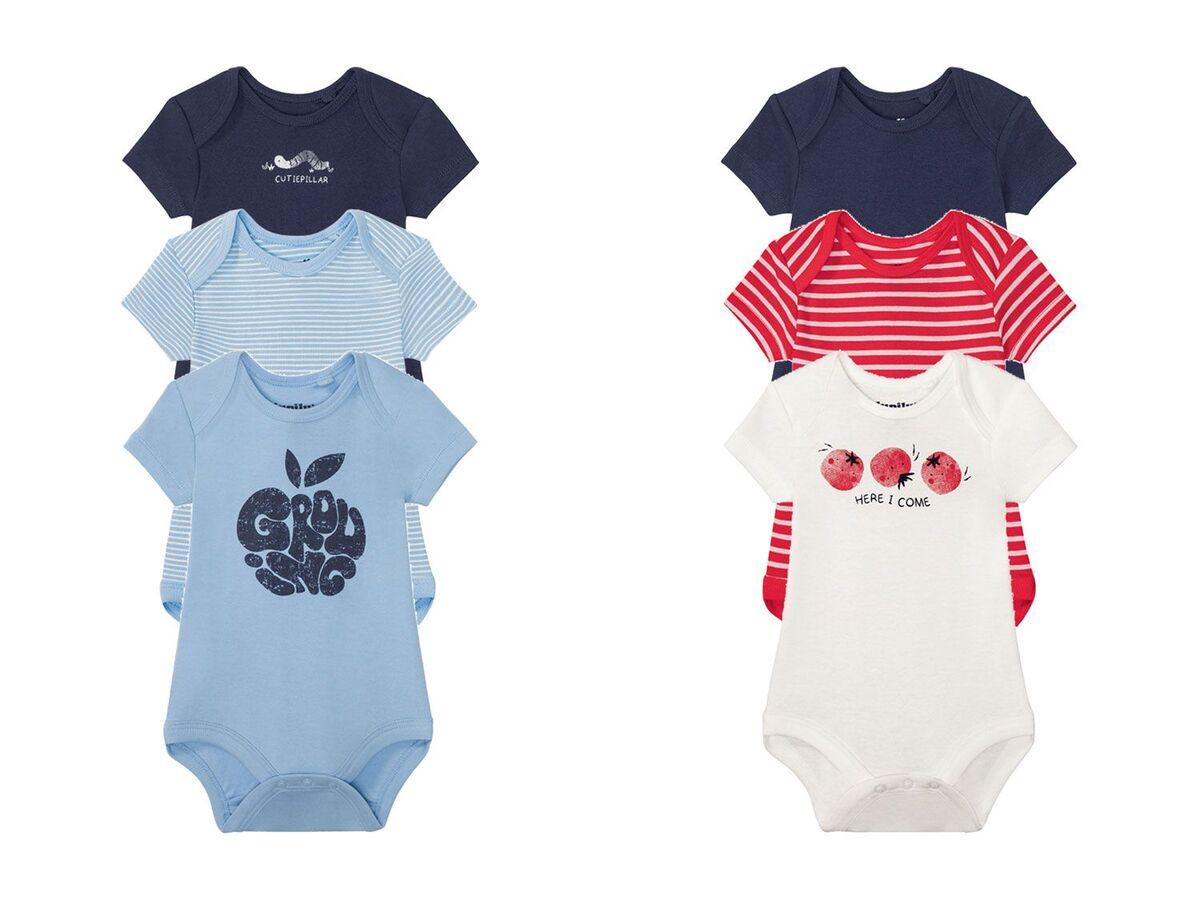 Bild 1 von LUPILU® 3 Baby Jungen Bodys