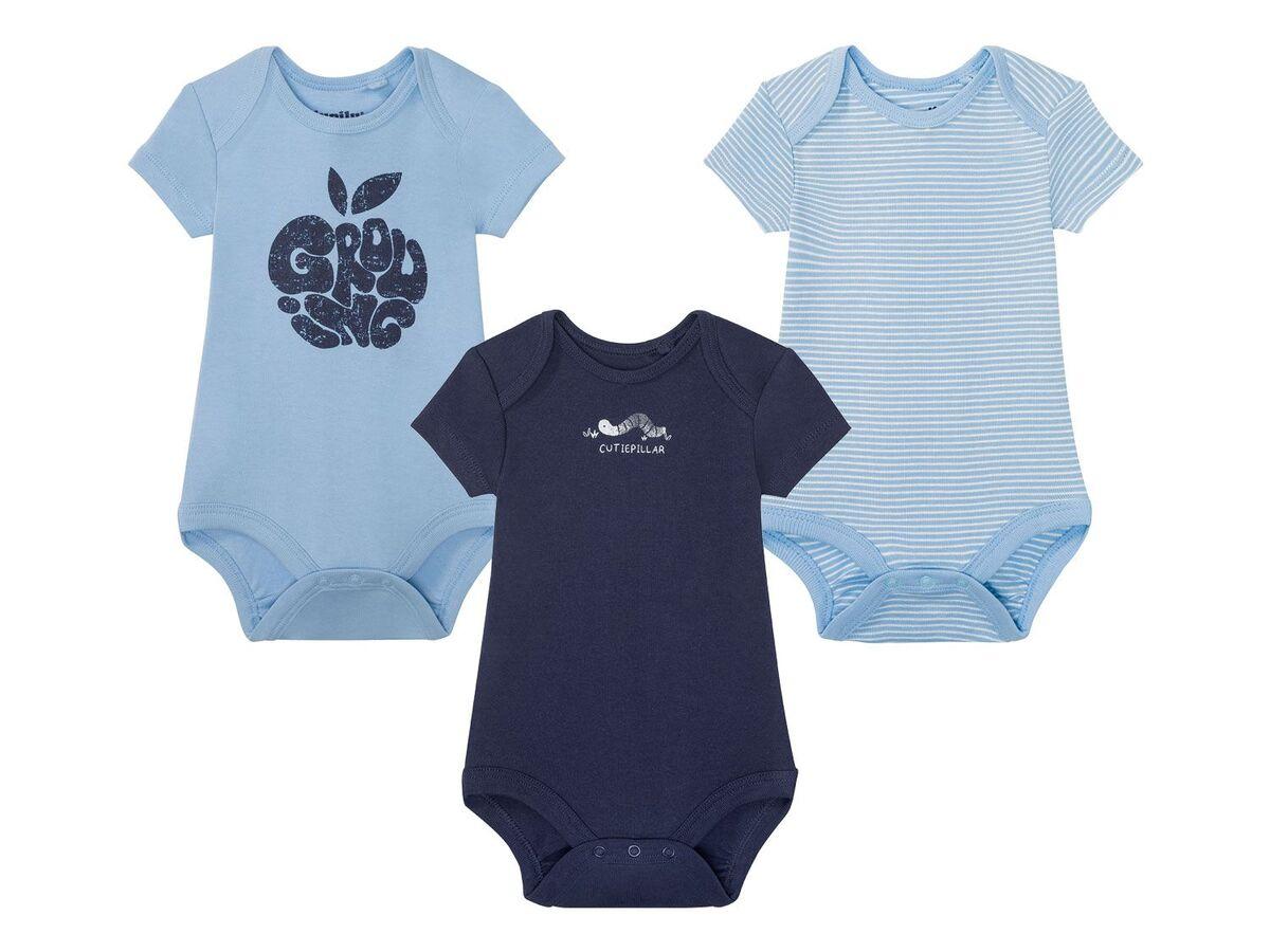 Bild 3 von LUPILU® 3 Baby Jungen Bodys