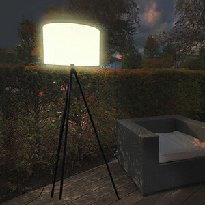 Smarte Outdoor LED-Stehleuchte Khaya White + Color1
