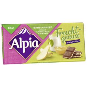 Alpia Schokolade Fruchtgenuss Birne-Joghurt 100g
