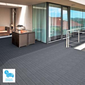 WPC-Terrassendielen, 6 m², anthrazit