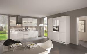 Einbauküche Focus, Hochglanz alpinweiß, inklusive Elektrogeräte