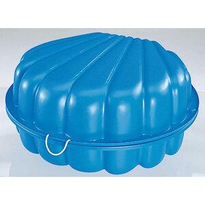 Sand- und Wasserspielmuschel, blau
