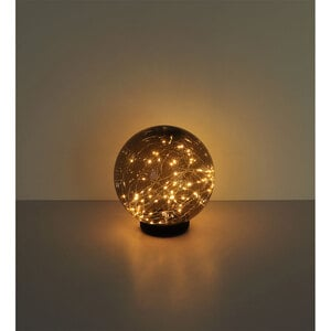 "Flector Garten              LED-Solar-Kugelleuchte ""Smoky"", 20 cm, schwarz"