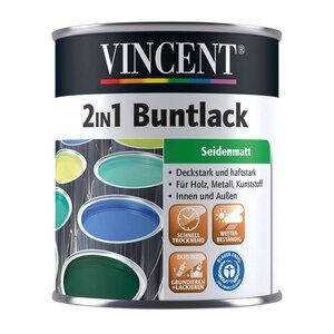 Vincent              2in1 Buntlack Lichtgrau, Seidenmatt, 0,125 L