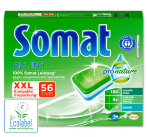 SOMAT PRO NATURE Spülmaschinentabs All in 1