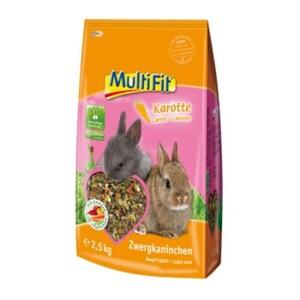 MultiFit für Zwergkaninchen mit Karotte 2,5kg