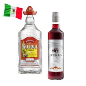 Ficken Likör Jostabeeren oder Sierra Tequila Silver, Reposado