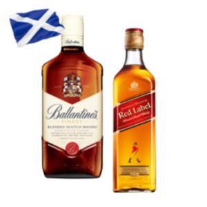 Johnnie Walker Red Label Whisky oder Ballantines Finest Scotch Whisky