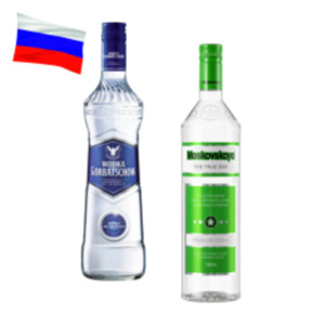 Moskovskaya Vodka oder Wodka Gorbatschow