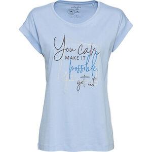 Adagio T-Shirt, Print, Rundhals, Flügelärmel, für Damen
