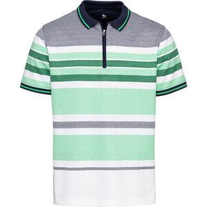 Otto Kern Poloshirt, Streifen, Reißverschluss, für Herren