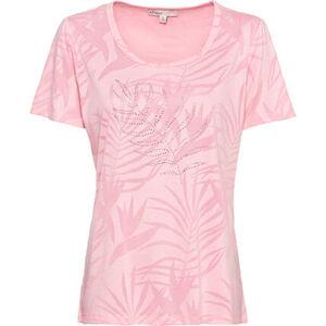 Adagio Shirt, Rundhals, Strass, Print, für Damen