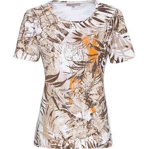 "Adagio T-Shirt ""Tropic 2"", Tiger, Blattmuster, Kurzarm, für Damen"
