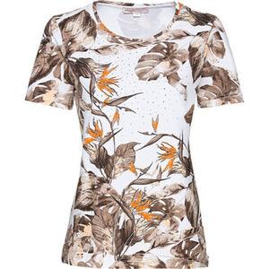 "Adagio T-Shirt ""Tropic 1"", Blattmuster, Kurzarm, für Damen"