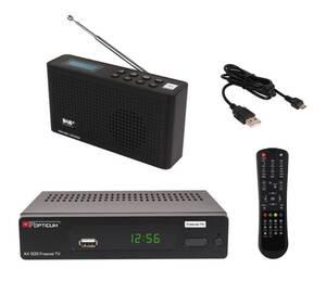 DAB+ Freenet Set mit Freenet DVB-T2 Full HD Receiver und DAB+ Radio