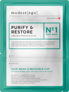 Modest ego  Haarmaske Purify & Restore No 1, Hair mask + cap
