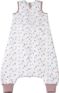 PUSBLU Kinder Schlafsack 2,5 TOG, 110 cm, in Bio-Baumwolle und recyceltem Polyester, weiß, lila