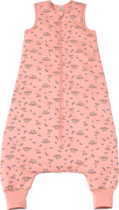 PUSBLU Kinder Schlafsack 2,5 TOG, 100 cm, in Bio-Baumwolle und recyceltem Polyester, rosa