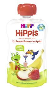 Hipp Bio Hippis Erdbeere-Banane in Apfel 100 g
