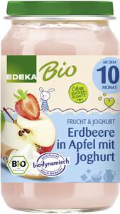EDEKA Bio Erdbeere in Apfel mit Joghurt 190G