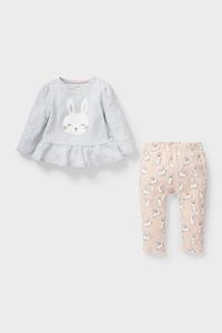 C&A Baby-Pyjama-Bio-Baumwolle-2 teilig, Grau, Größe: 68