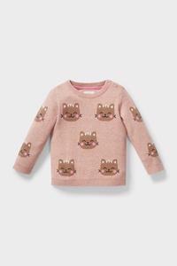 C&A Baby-Pullover-Bio-Baumwolle, Rosa, Größe: 62