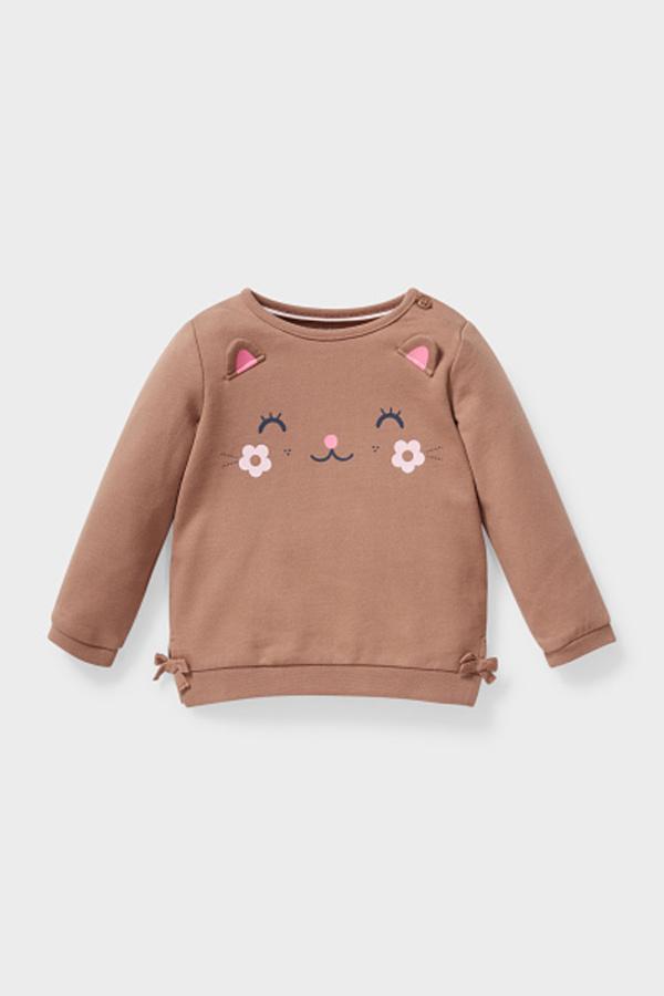 C&A Baby-Sweatshirt-Bio-Baumwolle, Beige, Größe: 62