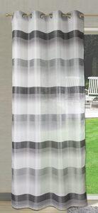 Vorhang »Ösenschal Seitenschal Vorhang 2421 140x245 cm Gestreift Weiß Grün Blau Grau Rot«, EXPERIENCE, Ösen (1 Stück), mit 8 Ösen