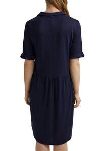 Esprit Hemdblusenkleid mit Knopfleiste und Ziernähten vorne