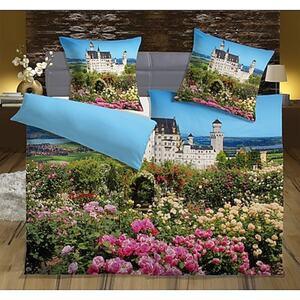 Dekor Fotodruck Bettwäsche 4-teilig - Motiv Schloss