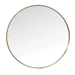 Kare-Design Wandspiegel  Curve Round Brass  Glas