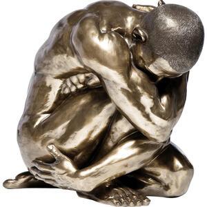 Kare-Design Skulptur  Nude MAN HUG Bronze  Bronze