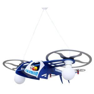 XXXLutz Kinderhängeleuchte  127988 Polizei Helikopter Joe  Silber