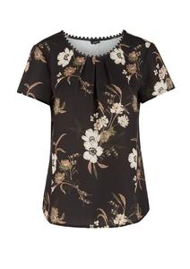 Damen Bluse mit Zierknopfleiste