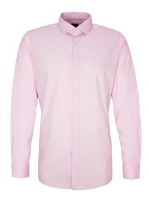 Herren Slim: Fabric-Mix-Hemd in Unicolor